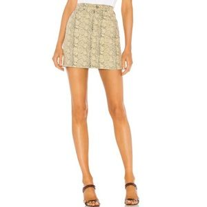 NWT AG Adriano Goldschmied Vera Python Mini Skirt